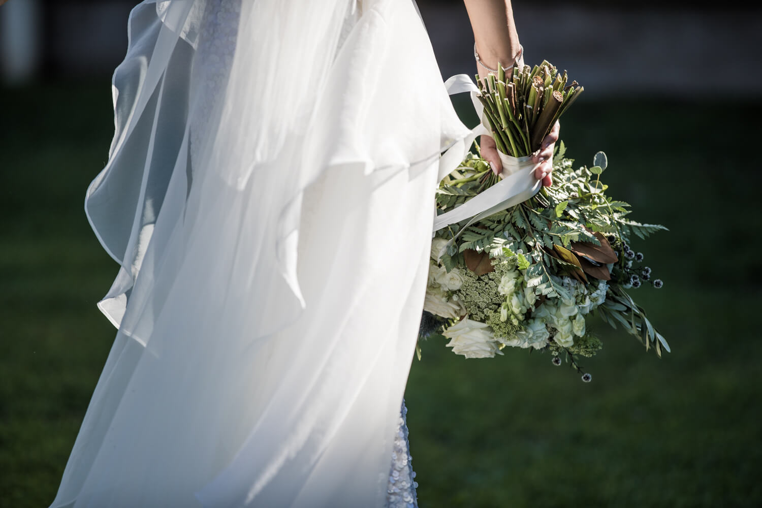 Ash holding her bouquet - wedding photography styles