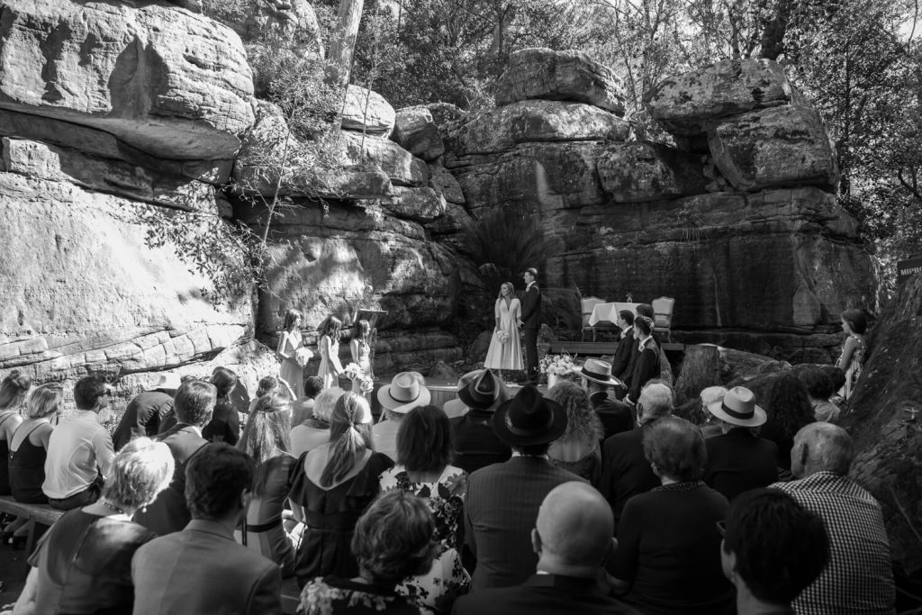 traditional weddings vs elopements - traditional wedding ceremony at kangaroo valley bush retreat