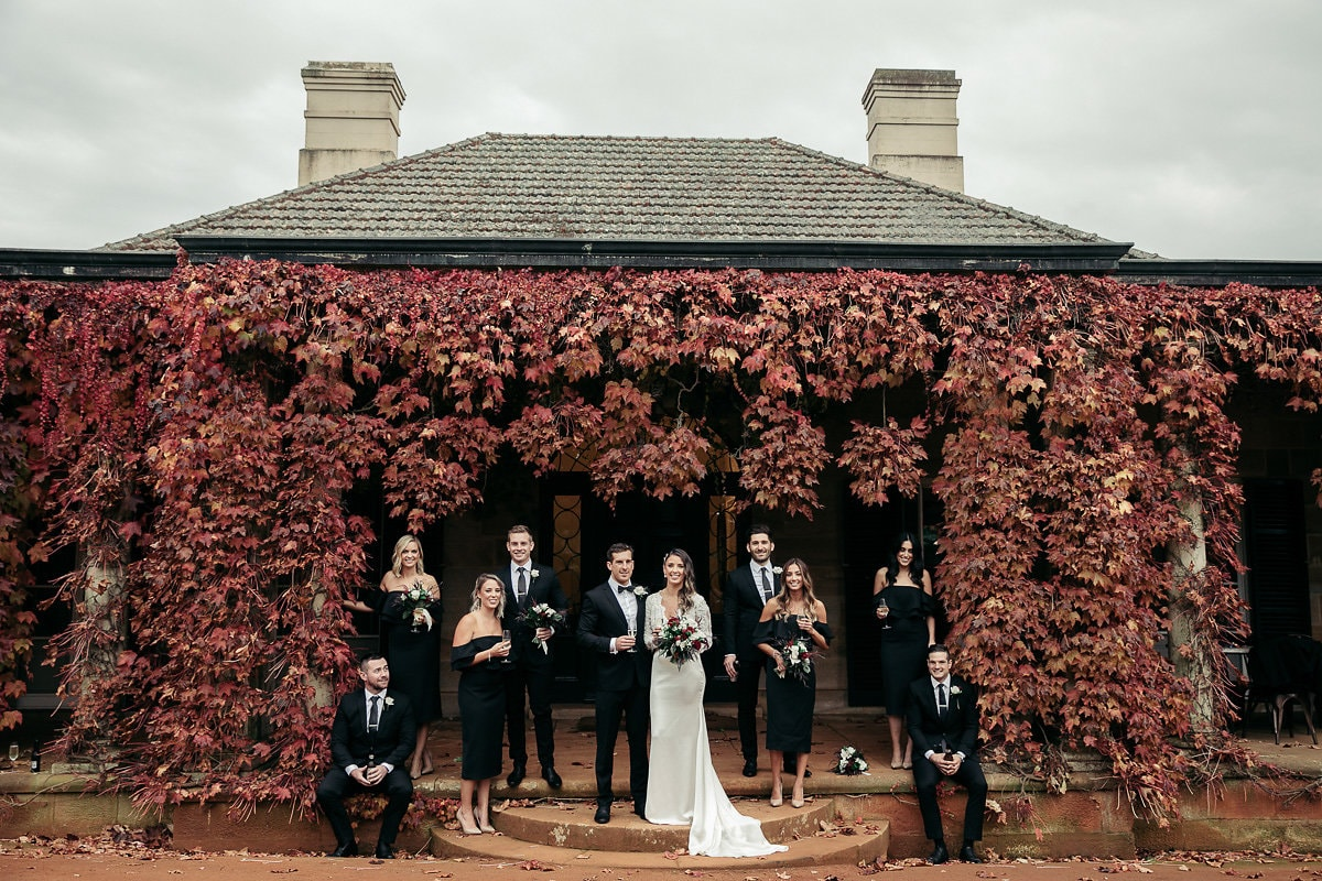 autumn leaves at bendooley estate a southern highlands wedding venue