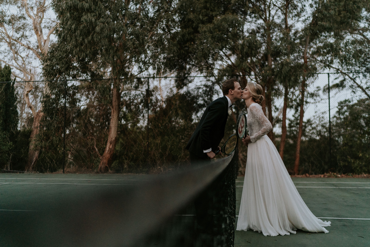 hopewood house tennis courts - southern highlands wedding venues