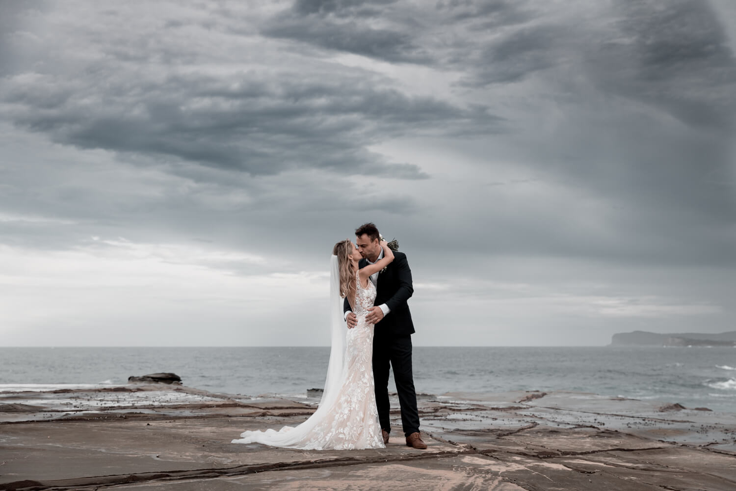 traditional weddings vs elopements - Justin and Bec kissing