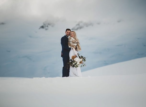 traditional weddings vs elopements - snow filled elopement in new zealand