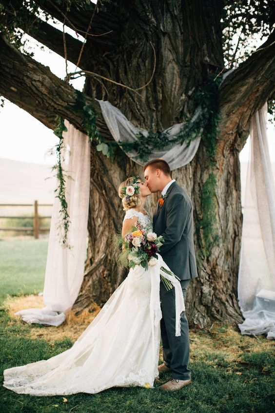 natural wedding arch design