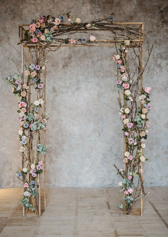 rectangle wedding arch design