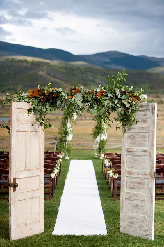 door wedding arch design