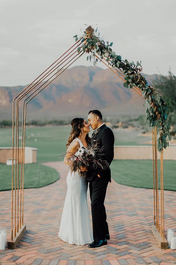 copper wedding arch design