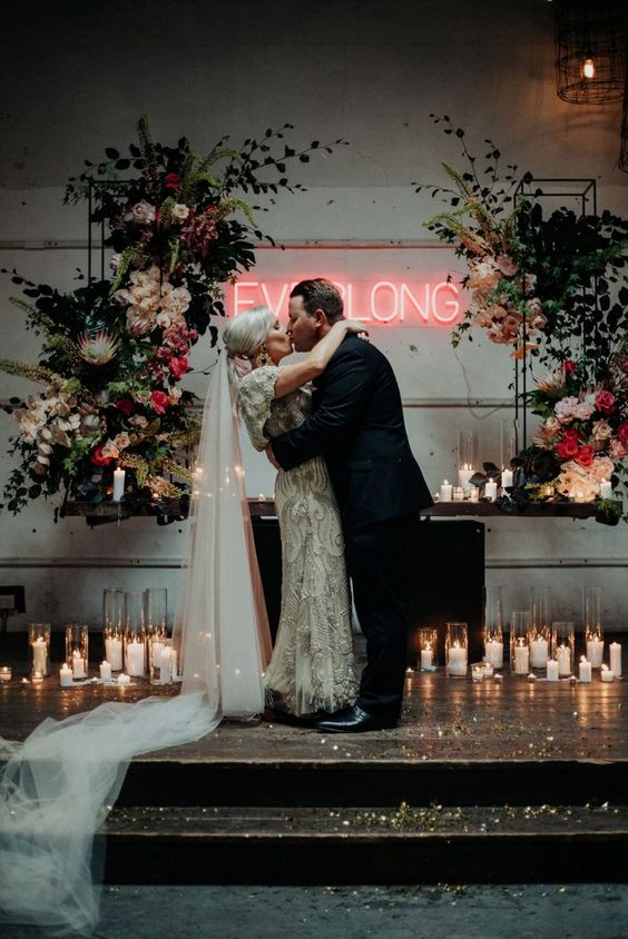 neon wedding arch design